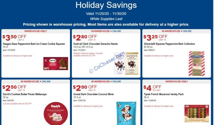 Costco Holiday Savings: November 20 - 30, 2020