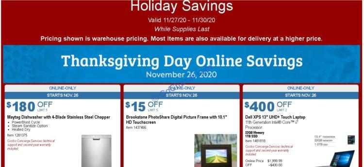 Costco Holiday Savings: November 27 – November 30, 2020