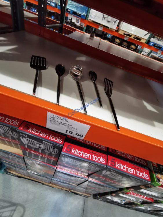 MIU 5 Piece Stainless Steel Cooking Tools