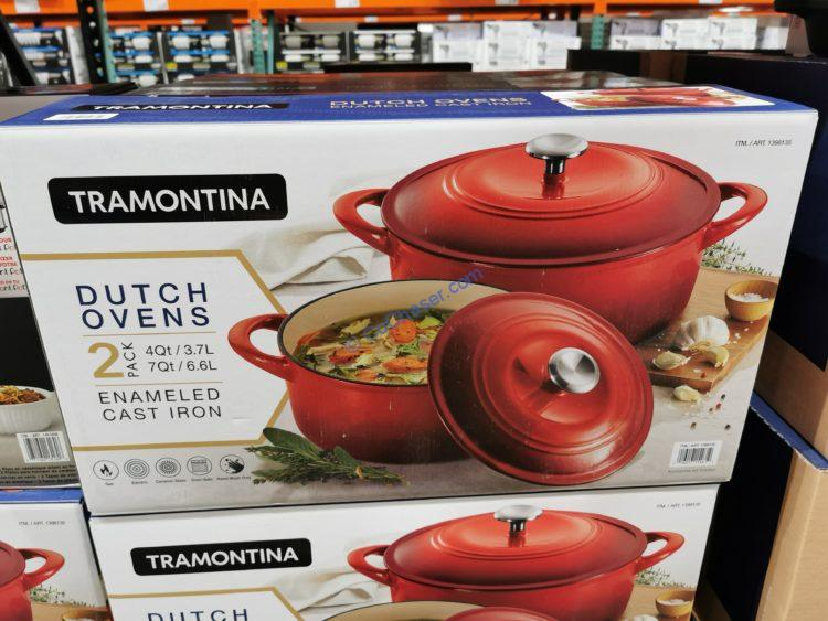 Tramontina Enameled Cast Iron Dutch Oven, 2-pack