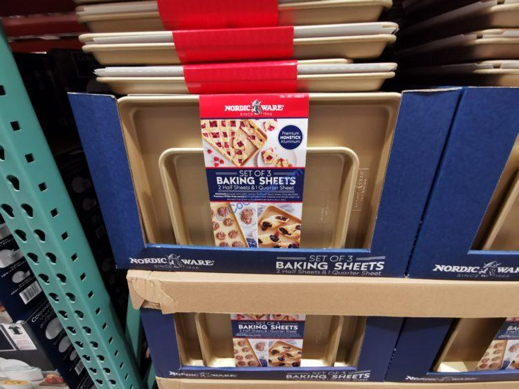 Nordic Ware Gold Baking Sheets, 3-Piece