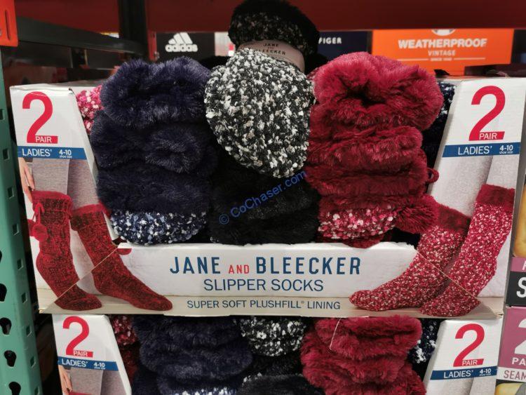 Jane and Bleecker Chunky Slipper Sock 2PK