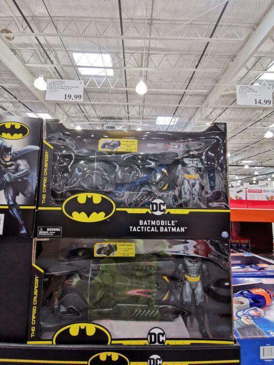 DC Batman Tactical Batman Figure and Batmobile Set