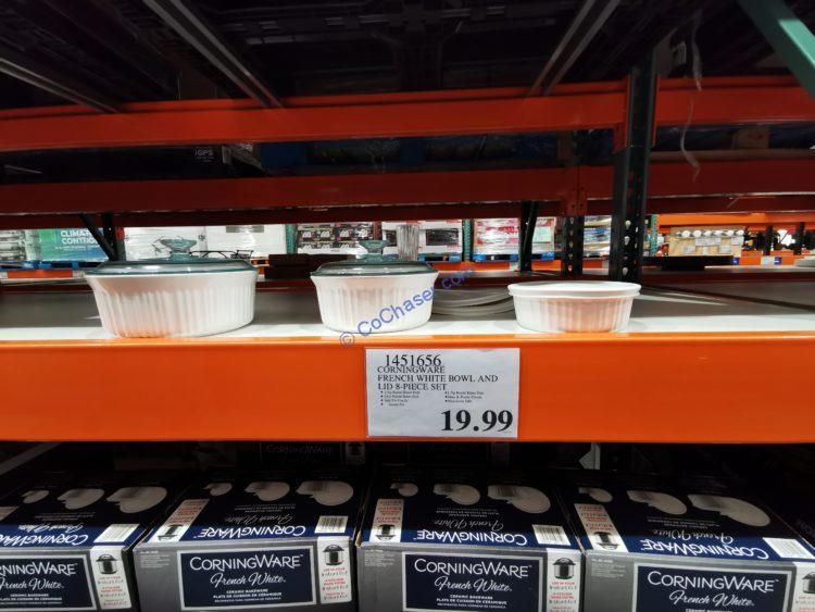 Corningware French White Bowl and Lid 8-piece Set