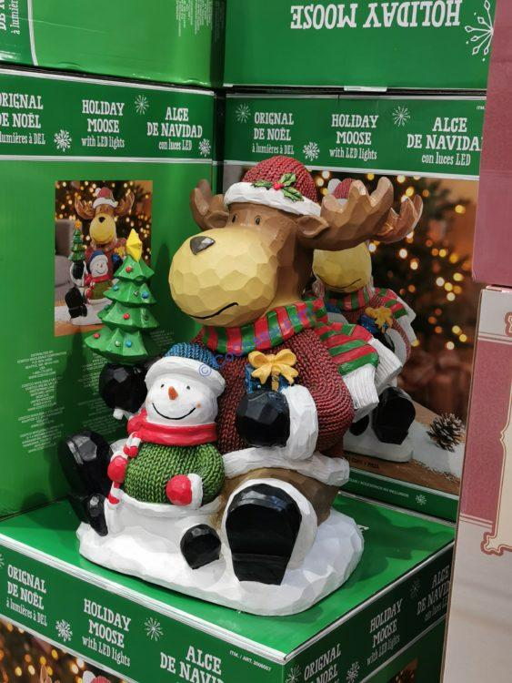 """15"""" Moose and Snowman with LED Lights"""