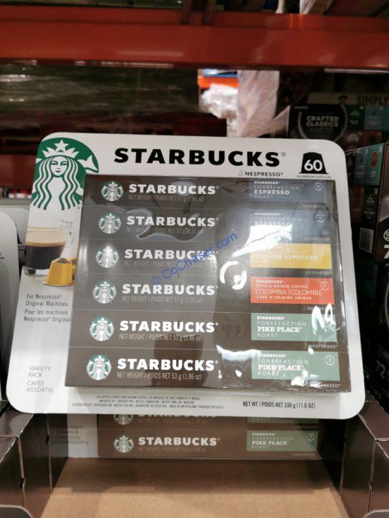 Starbucks Nespresso Capsules Variety Pack 60 CT