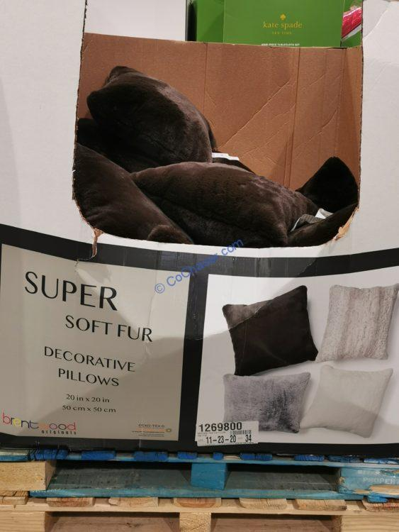 BrenWood Originals Faux Fur Pillow 20in x 20in