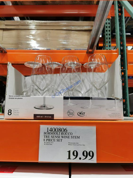Bormioli Rocco Tre Sensi Wine Stem 8 Piece Set