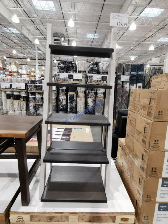 """Bayside Furnishings Ashlyn 72"""" Ladder Bookcase"""