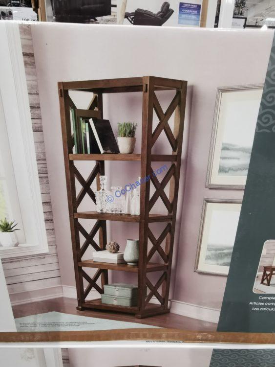 "Bayside Furnishings Burke 72"" Bookcase , Model#CSC72BK-7"