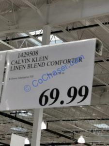Costco-1429508-Calvin-Klen-Linen-Blend-Comforter-tag