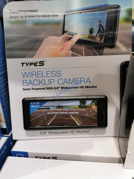 TYPE S Wireless Solar Powered 720P HD Backup Camera 2.0, Model# WIN-530033_V2