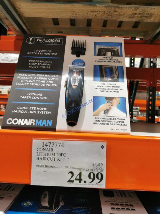 Costco-1477774-ConairMan-Lithium-20-piec- Haircut-Kit-tag