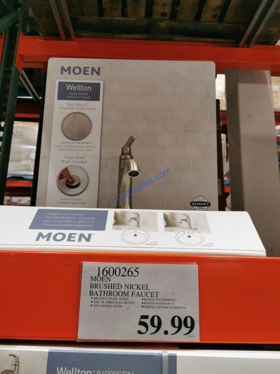 Moen Wellton Brushed Nickel Bathroom Faucet, Model 84980SRN
