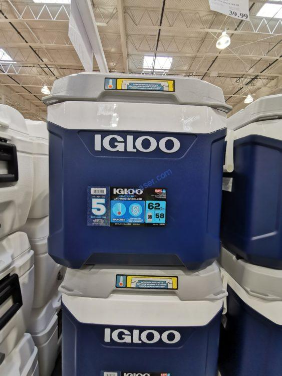 Igloo MaxCold Latitude 62 Quart Rolling Cooler