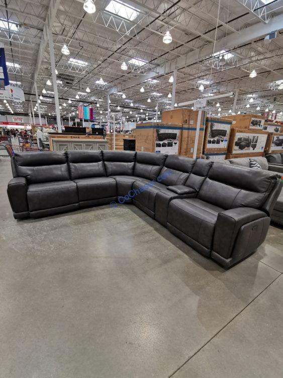 Gilman Creek Leather Power Reclining Sectional