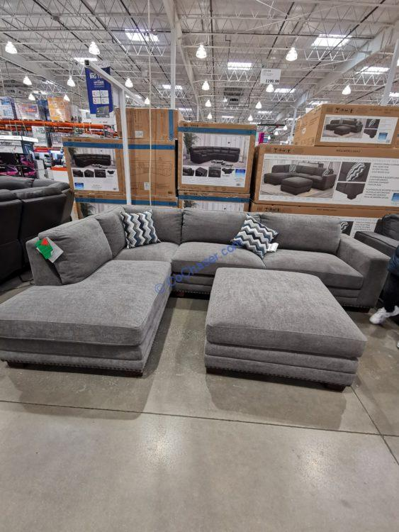 ONTAI Fabric Sectional with Ottoman