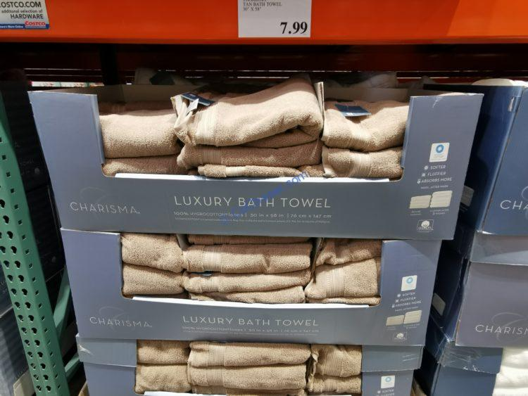 "Charisma Tan Bath Towel 30"" x 58"""
