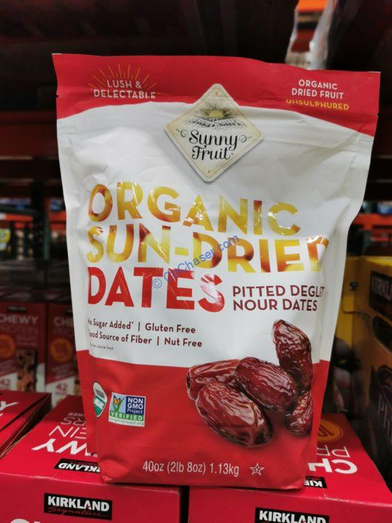 Sunny Fruit Organic Pitted Dates 40 Ounce bag