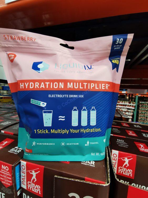 Liquid I.V. Hydration Multiplier Strawberry 30 Individual Serving Stick Packs