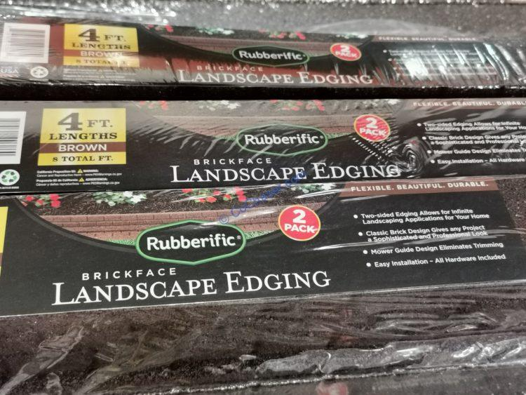 Rubberific  Brickface Landscape Edging 2 pack