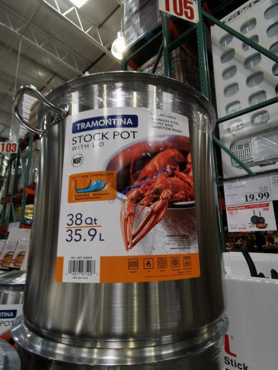Tramontina 38QT Stock Pot with Lid