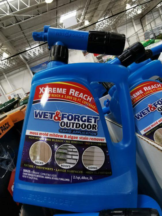 Wet & Forget Outdoor Hose End Moss Mold Mildew and Algae Stain Remover 68oz