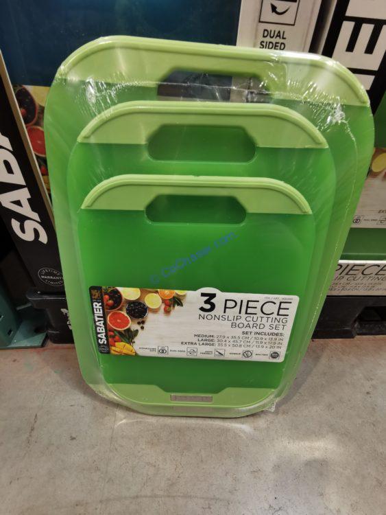 Sabatier 3 Piece Non Slip Cutting Board Set
