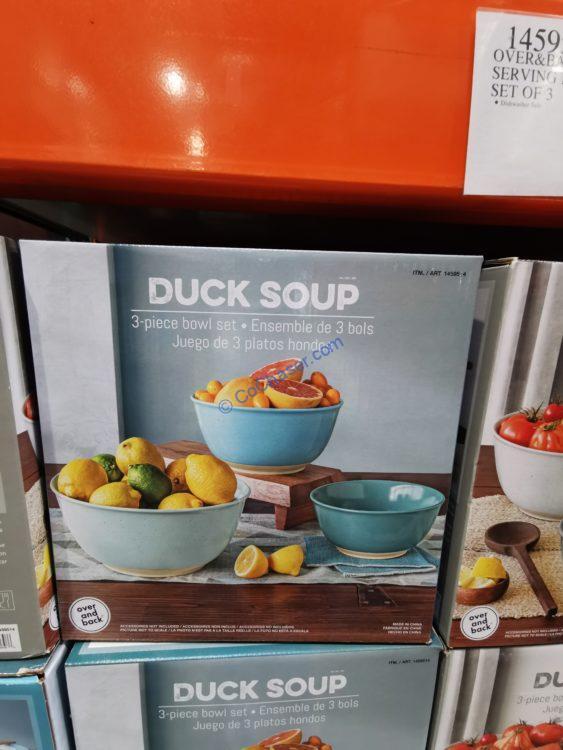 Overandback Duck Soup Serving Bowls Set of 3