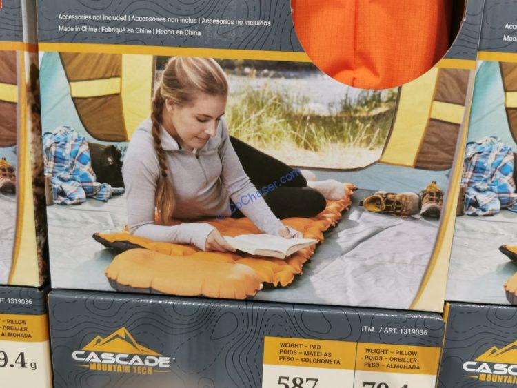 Cascade Mountain Tech Inflatable Sleeping Pad with Pillow