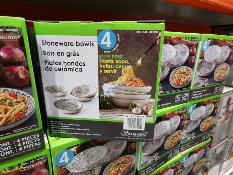 Signature Housewares Dinner Bowl 4-piece Set