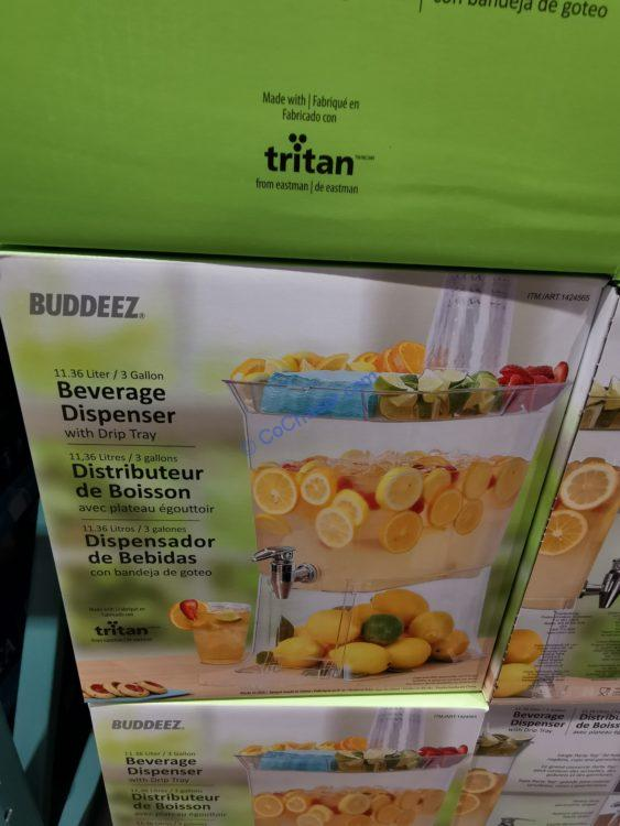 Buddeez Beverage Dispenser 3 Gallon Tritan