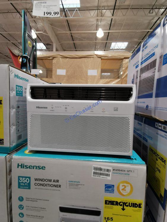 Hisense Window Air Conditioner with WIFI, 8,000 BTU, 350-Sq.Ft Model#HAW0521CW1W