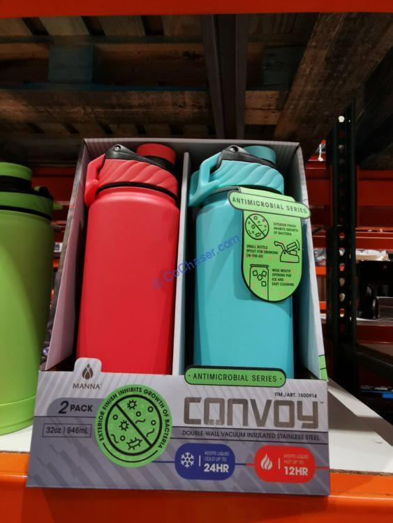 Mann Convoy Antimicrobial Series Water Bottle, 2PK