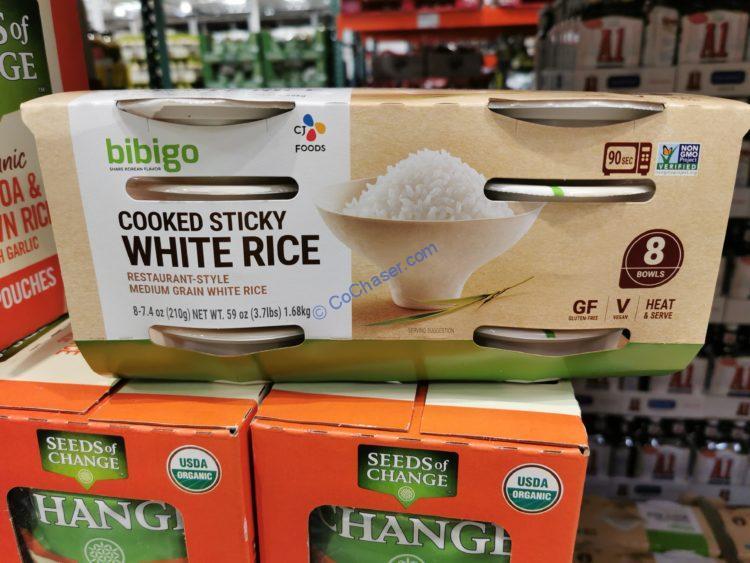 Bibigo Cooked Sticky White Rice 8/7.4 Ounce Bowls