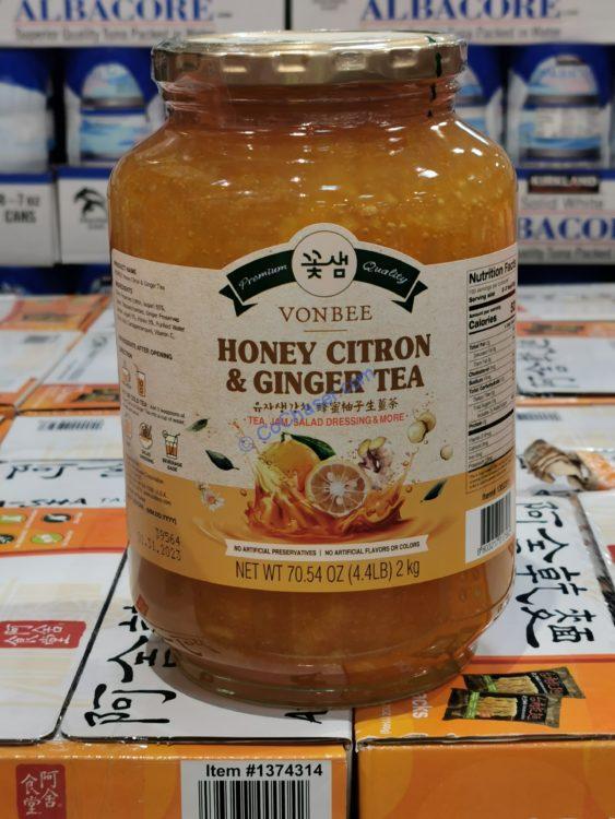 Vonebee Honey Citron Ginger Tea 70.54 OZ Container