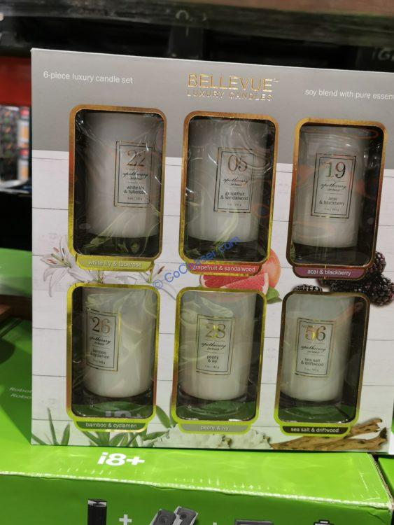 Bellevue Luxury Candle Soy blend 6 Pack