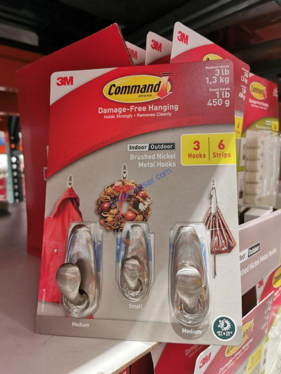 3M Command Hanging Hooks or Strips, 3-pack