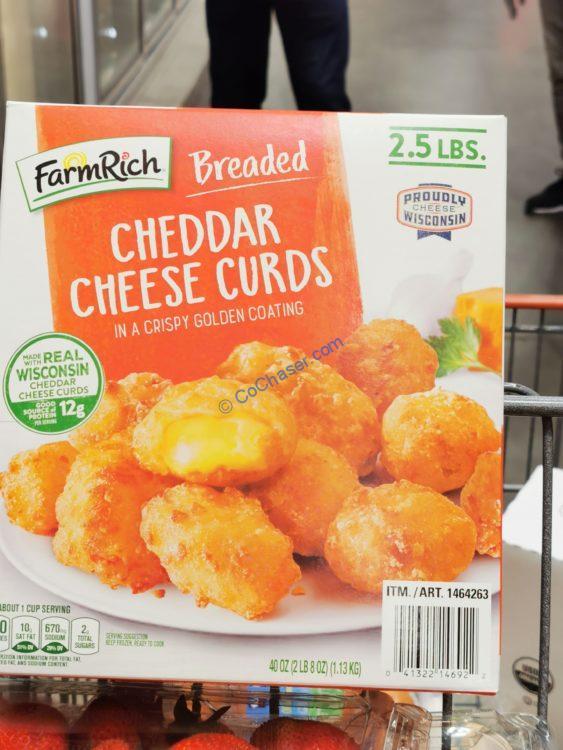 Farm Rich Breaded Cheese Curds 2.5 Pound Box