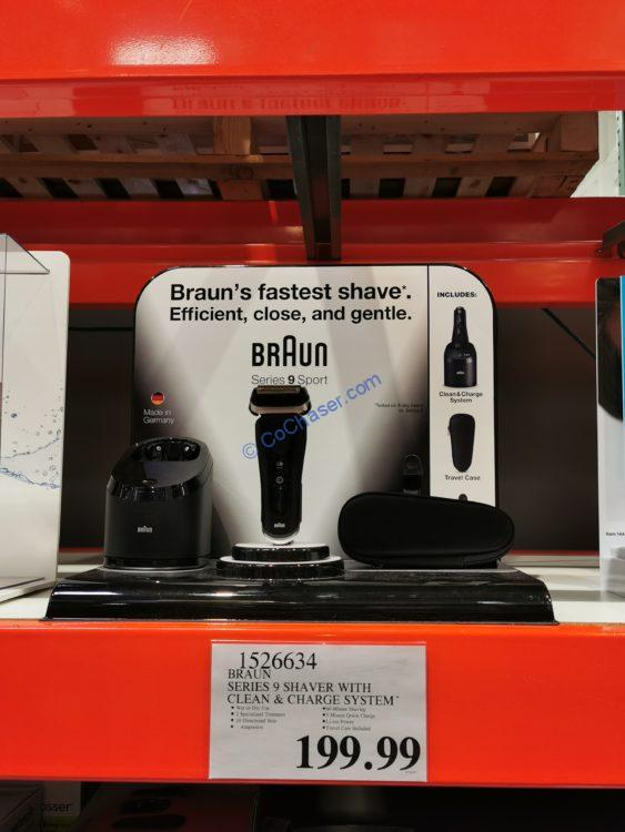 Braun Series 9 Shaver with Clean and Charge System