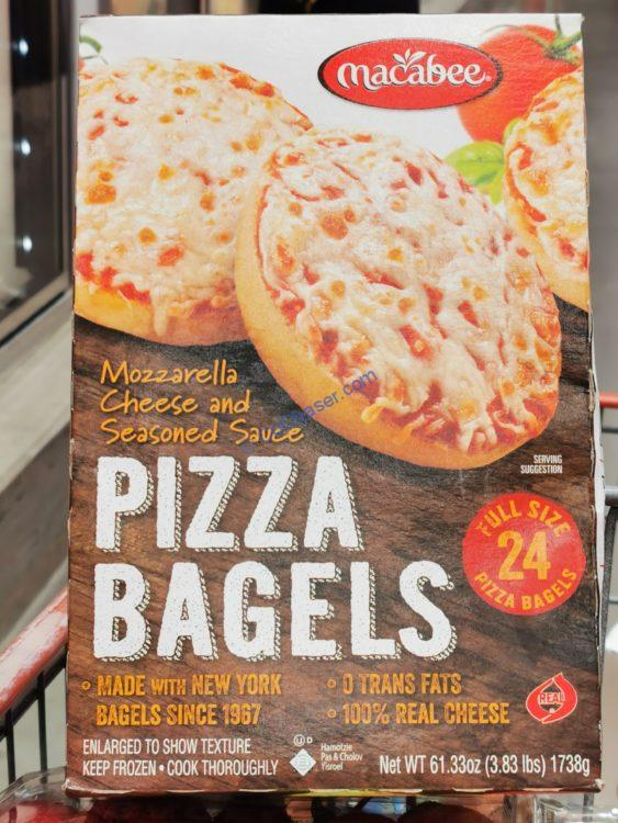 Macabees Kosher Pizza Bagels 24 Count Box