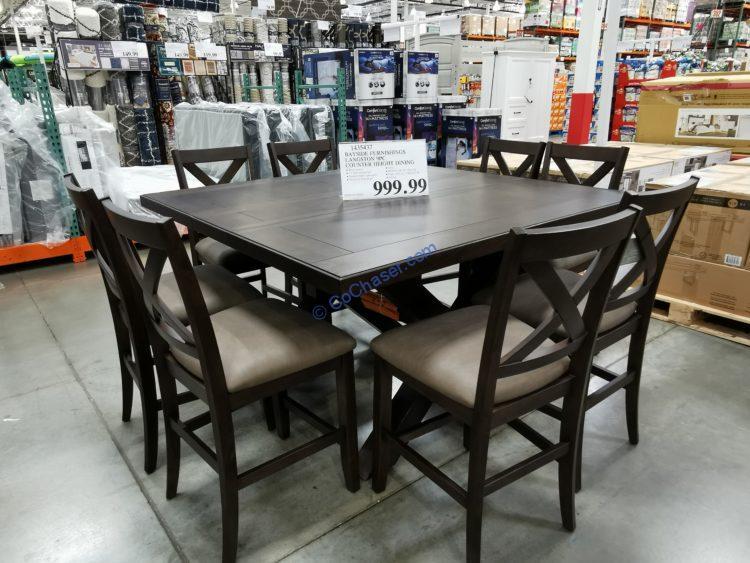 Bayside Furnishings Langston 9PC Counter Height Dining Set