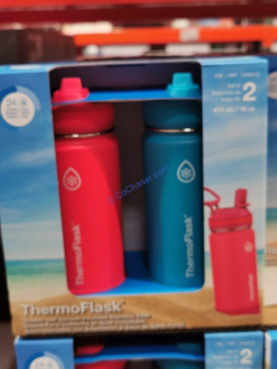 Thermoflask Stainless Steel 16 oz Water Bottle 2PK