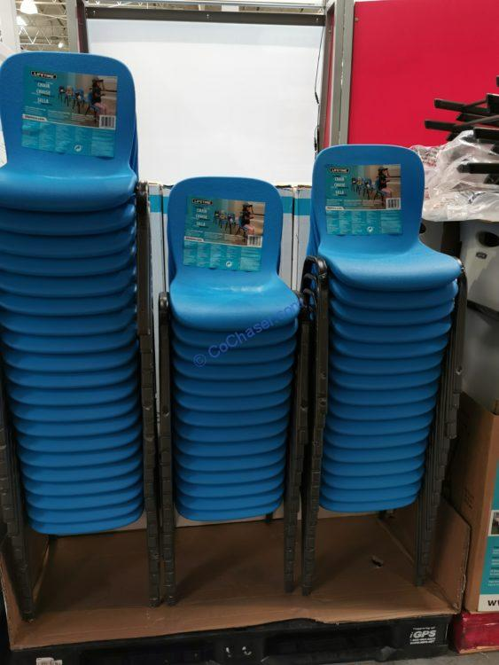 Lifetime Products Kids Stacking Chair Blue Only