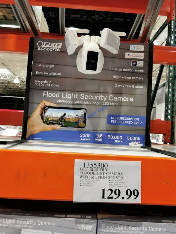 Feit Electric Floodlight Camera with Motion Sensor,  Model SEC3000/CAM/RP