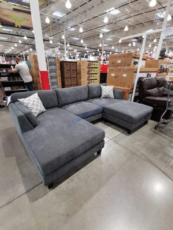 Ellery Fabric Sectional with Ottoman