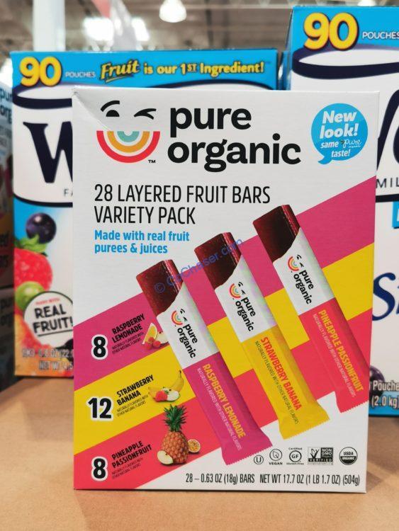 Pure Organic Layered Fruits Bars 28 Count Box