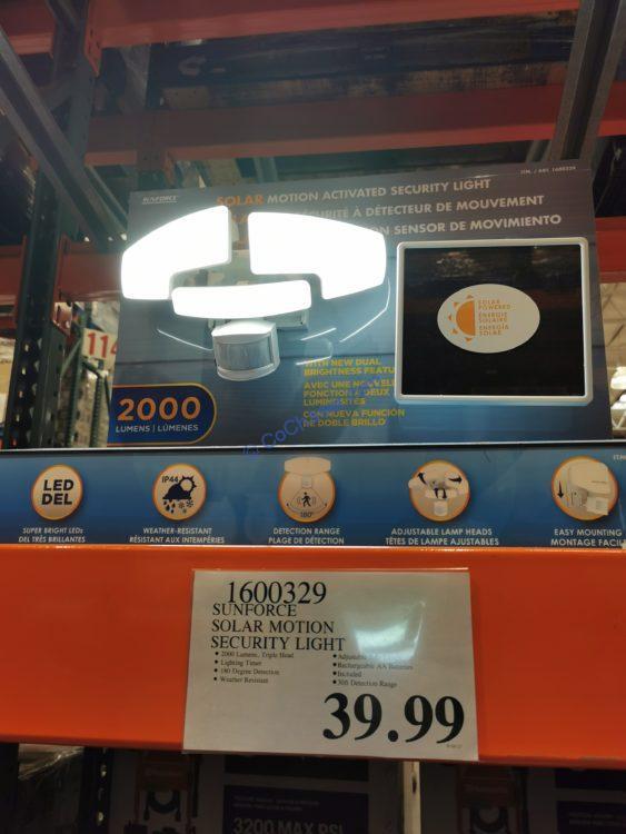 Sunforce Solar Motion Security Light, Model #82193