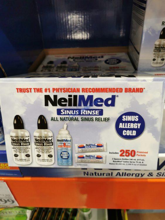 NeilMed Sinus Rinse with 2 Bottles/250 Packages & Nasamist Travel Size