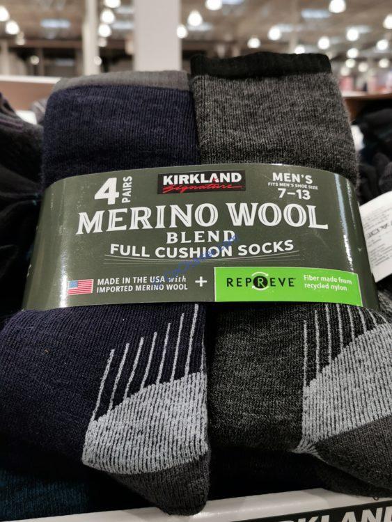 Kirkland Signature Men's Wool Blend Sock 4PR